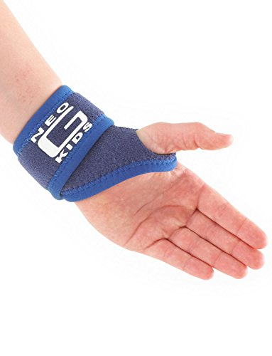 Neo G Wrist Brace for Kids - Support For Juvenile Arthritis, Joint Pain, Hand Sprains, Strains, Sports, Gymnastics, Tennis - Adjustable Compression - Class 1 Medical Device - One Size - Blue by Neo-G (Image #3)