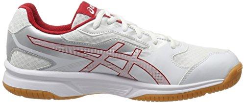 Hombre Zapatos 0123 Upcourt Voleibol para Asics 2 Silver Blanco de Prime Red White wEZYxW4Cq