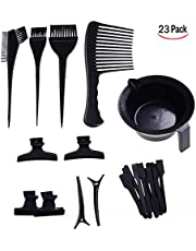 LHKJ 23 Pcs Hair Dyeing Tool, Hair Dye Coloring Salon Dyeing Brush Comb Brushes for Salon Barbers Hairdressing Tool