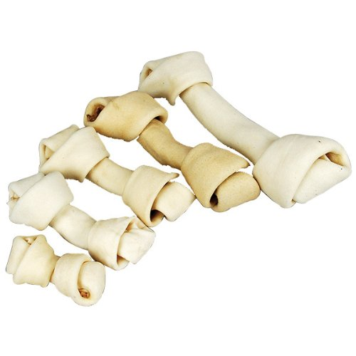 10 White Rawhide (Wholesome Hide Flat Knot Bone 10-11 Inch)