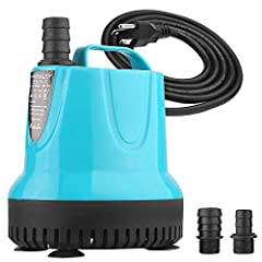 KEDSUM 530GPH Submersible Water Pump - 53W This multi-functional, multi-purpose water pump with low noise, reliable operation, perfect for medium sized aquariums, small ponds, water gardens, and desktop water fountains.FEATURES: ★With bottom ...
