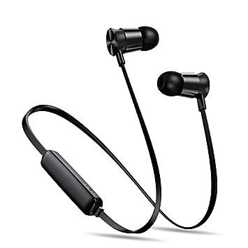 Y1Cheng Auriculares Bluetooth Deportes Móvil Bluetooth Auriculares Inalámbricos Micrófono Estéreo Auriculares Tipo Tapón Azul 10 Metros