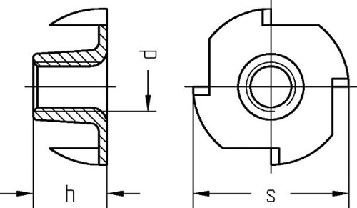 acero hcaq6161/con 4/puntas de impacto M 6/x 12/mm galvanisc