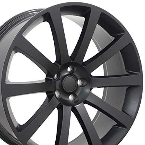OE Wheels 22 Inch Fits Chrysler 300 Challenger SRT8 Charger SRT8 Magnum 300 SRT Style CL02 Satin Black 22x9 Rim Hollander 2253