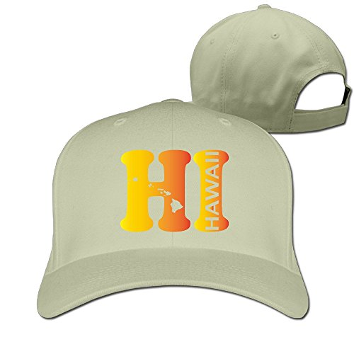 Hi Hawaii State Map Adjustable Six-panel Baseball Cap - Shops Island Kings Hawaii Big