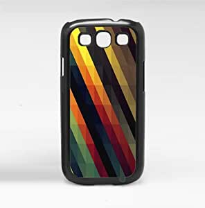 Colorful Geometric Stripes Hard Snap on Phone Case (Galaxy s3 III)