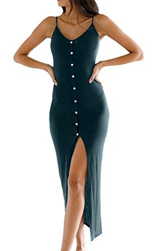 Eliacher Women's Button Down Adjustable Spaghetti