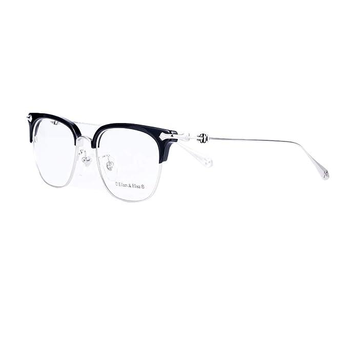 Amazon.com: Eileen & Elisa Titanium Gafas de borde completo ...