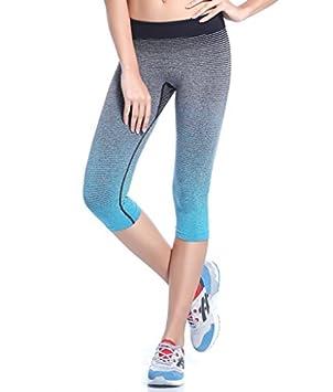4221534c3304 Qutool Women s Sports Pants Yoga Leggings Tights Workout Pant Running Pant  Blue