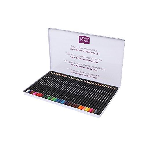 Derwent Academy Watercolor Pencils, Metal Tin, 36 Count (2300226) ()