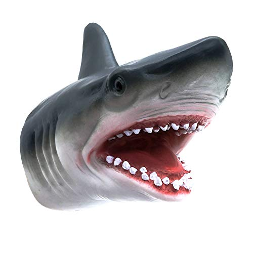 (Shark Hand Puppet Toys, Zerospace Shark Puppets Role Play Toy for Kids, Soft Rubber Realistic Shark Head 7 inch)