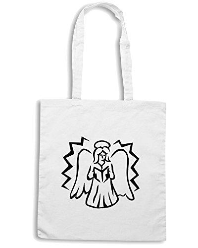 T-Shirtshock - Bolsa para la compra FUN0586 angel in prayer decal 2 21459 Blanco