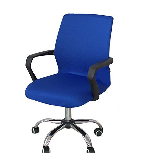 Funda para silla de escritorio de Zyurong, extraible, lavable, proteccion para tu silla de oficina, giratoria y de escritorio, tamano S (solo incluye la funda), azul, Small
