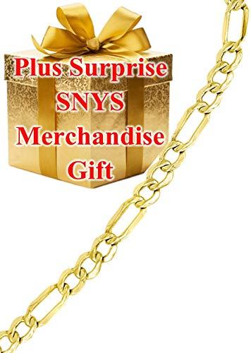 (14k Gold Figaro Bracelet)
