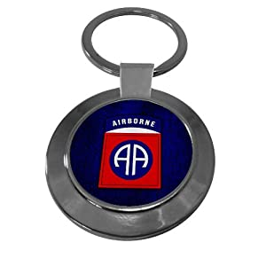 Premium Key Ring with U.S. Army 82nd Airborne Division, insignia