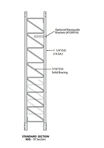 (ROHN 45G 10' Tower Section - Standard 45G Tower Section)
