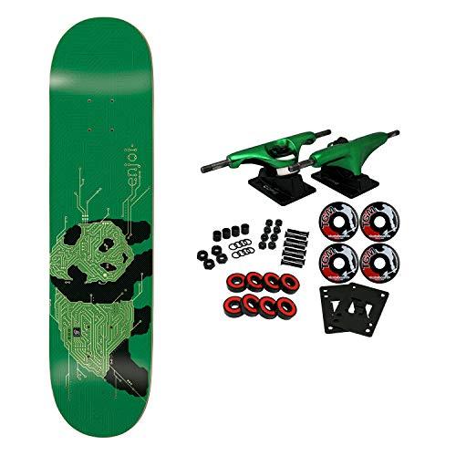 (Enjoi Skateboard Complete Circuit Board Green/Gold 8.25
