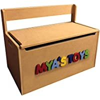 Personalized Toy Storage Box / Bench Seat with 3D name