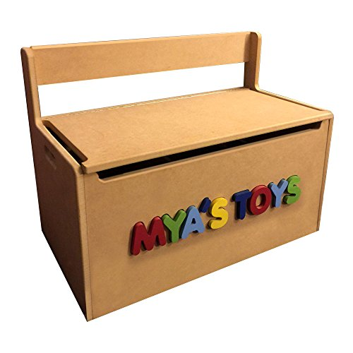Personalized Toy Storage Box / Bench Seat with 3D name by ModRoomz Zubes