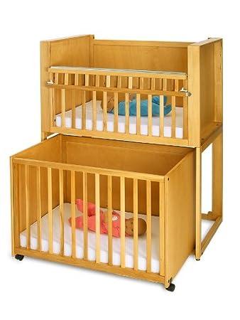 Ordinaire Stackable Space Saving Cribs (C2 Honey)