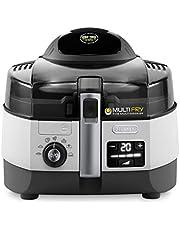 DeLonghi FH1394/2 MultiFry Extra Chef heteluchtfriteuse/multicooker (1,7 kg inhoud, 1.400W/1.000W, 8 porties, SHS-Double-Pro, recepten-app), Grijs/Wit