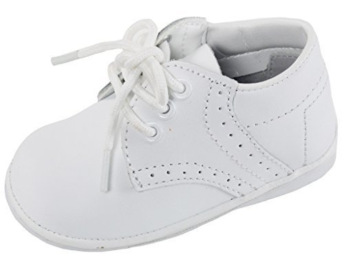 iGirlDress Angels Garments Baby Boys White Oxford Christening Shoes Size 4 from Angels Garment