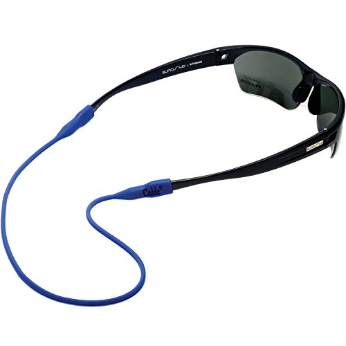 Cablz Non - Adjustable Eyeglass Retainer |Universal Fit Anti- Slip 100% Silicone Glasses Holder Strap, Blue