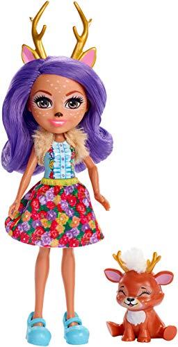 Enchantimals – Danessa Deer y Sprint, muñeca con mascota (Mattel FXM75) , color/modelo surtido