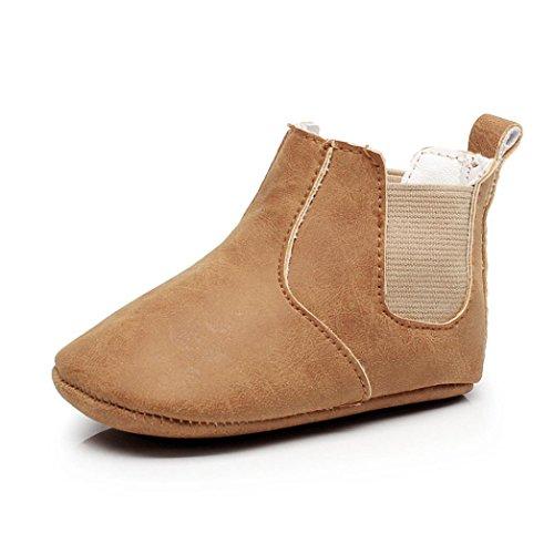 Clode® Neugeborene Kleinkind Mädchen Jungen Krippe weiche Sohle Anti-Rutsch Baby Turnschuhe Stiefel Schuhe Braun