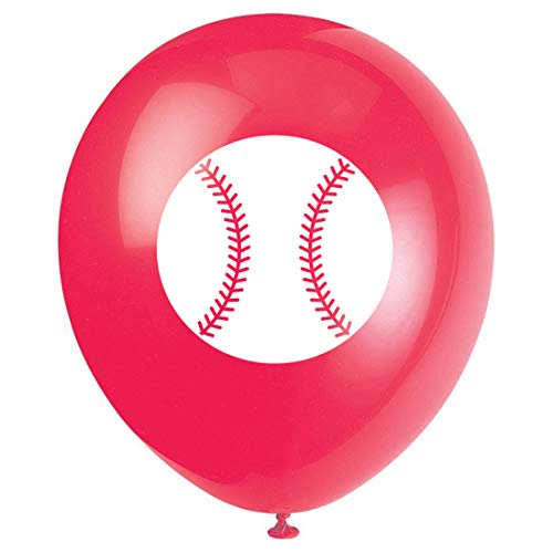 MAGJUCHE Baseball Party Latex Balloons, 16pcs Baseball Sport Themed Birthday Party Decorations, Supplies]()