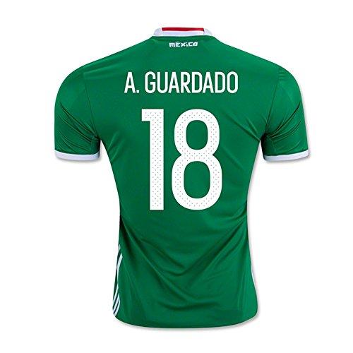 聞きます診療所甥A. GUARDADO #18 Mexico Home Jersey COPA America Centenario 2016(Authentic name & number)/サッカーユニフォーム メキシコ ホーム用 A. グアルダード