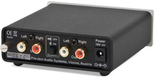 Pro-Ject Audio - Phono Box DC - MM/MC Phono preamp with line Output - Blk by Pro-Ject (Image #1)
