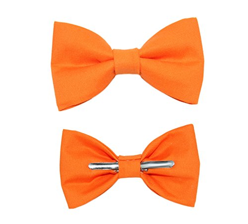 Toddler Boy 3T 4T Orange Clip On Cotton Bow Tie