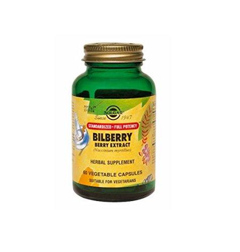 Solgar Bilberry (Solgar Standardized Full Potency Bilberry Berry Extract Vegetable Capsules, 60)