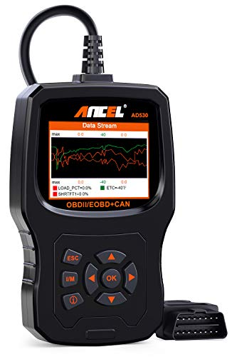 ANCEL AD530 Vehicle OBD2 Scanner Car Code Reader Diagnostic Scan Tool with Enhanced Code Definition and Upgraded Graphing Battery Status (The Best Car Diagnostic Scanner)