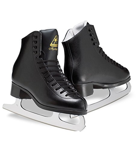 Jackson JS1593 Mystique Boys Ice Skates Black Beginner Level Figure Skating (M, 3)