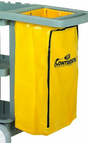 Continental 188YW Yellow Zippered Vinyl Replacement Bag for 182/184/186 Cart