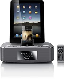 Philips DC390/37 Dual-Docking 30-Pin iPod/iPhone/iPad Alarm Clock Speaker Dock