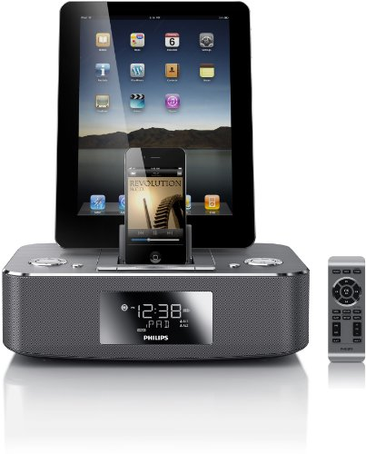 Philips DC390/37 Dual-Docking 30-Pin iPod/iPhone/iPad Alarm Clock Speaker Dock by Philips