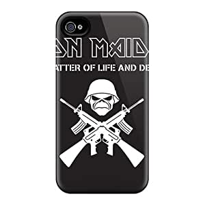 InesWeldon Iphone 4/4s Bumper Cell-phone Hard Covers Unique Design Stylish Death Band Pattern [Uhg4658syJZ]