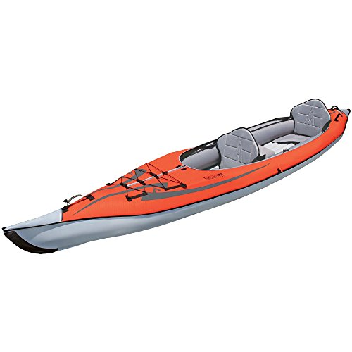 ADVANCED ELEMENTS AE1007-R AdvancedFrame Convertible Inflatable Kayak, 15', Red
