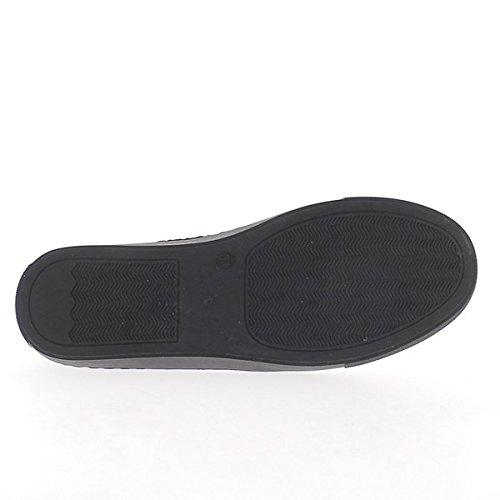 Ballerines slips on noires look paillettes