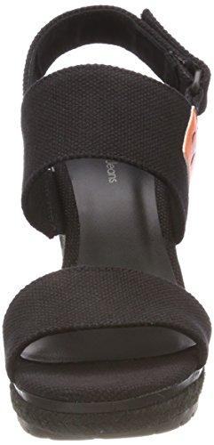 Klein Lacey 000 Cinturino blk Scarpe Caviglia Alla Con Nero Donna Calvin Canvas 6pHdpw