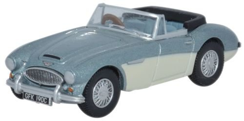 1:76 Blue & Ivory Oxford Diecast Austin Healey - Scale Oxford