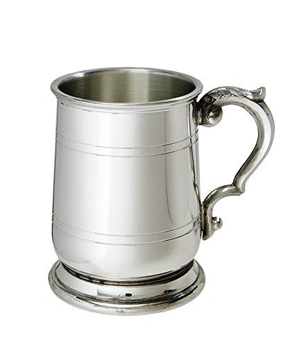 Wentworth Pewter - Half Pint Jacobean Pewter Tankard, Beer Mug ()