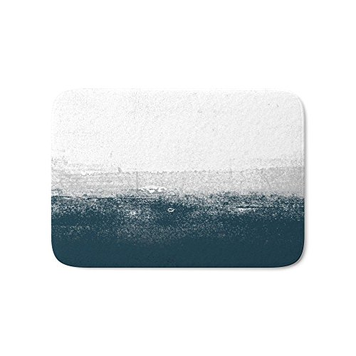 "Society6 Ocean No. 1 - Minimal Ocean Sea Ombre Design Bath Mat 21"" x 34"" 85%OFF"