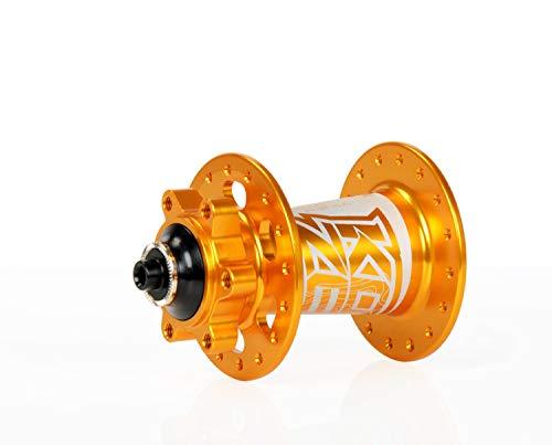 KOOZER Bicycle Hubs XM490 Gold 32Hole CNC Aluminum MTB Disc Brake Front Hub 9x100mm Quick ()