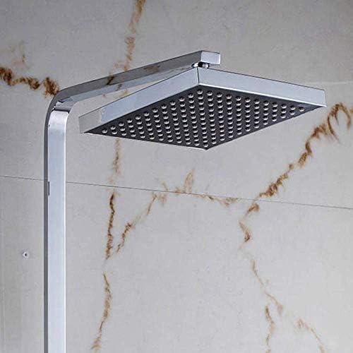 """シャワーヘッド 取り付け簡単 シャワーセットシャワーミキサー蛇口8"""" ABSシャワーヘッドクローム仕上げ水タップ付き"""