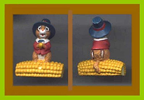 Hallmark Merry Miniatures Thanksgiving Chipmunk Pilgrim