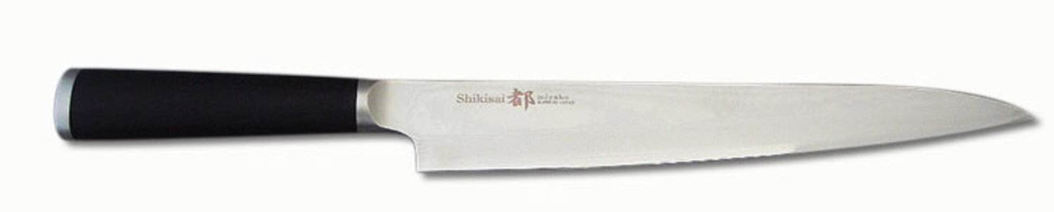 Miyako Japanese 33 Layers Damascus Steel Yanagiba Knife, 9.25-In, With Wooden Handle: Chefs' Best And Favourite Knife by Miyako